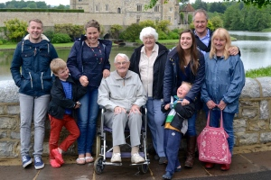 With the Roberts side of family at Leeds castle